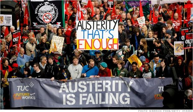 vakbonsverzet tegen bezuinigingen