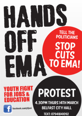 Protest against cuts to EMA